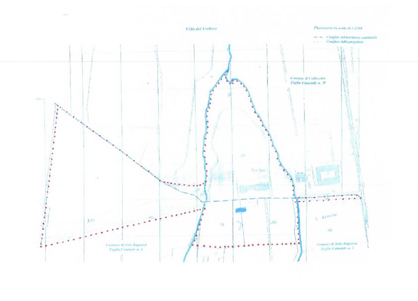 Plan of the plot of land - Villa del Ferlaro