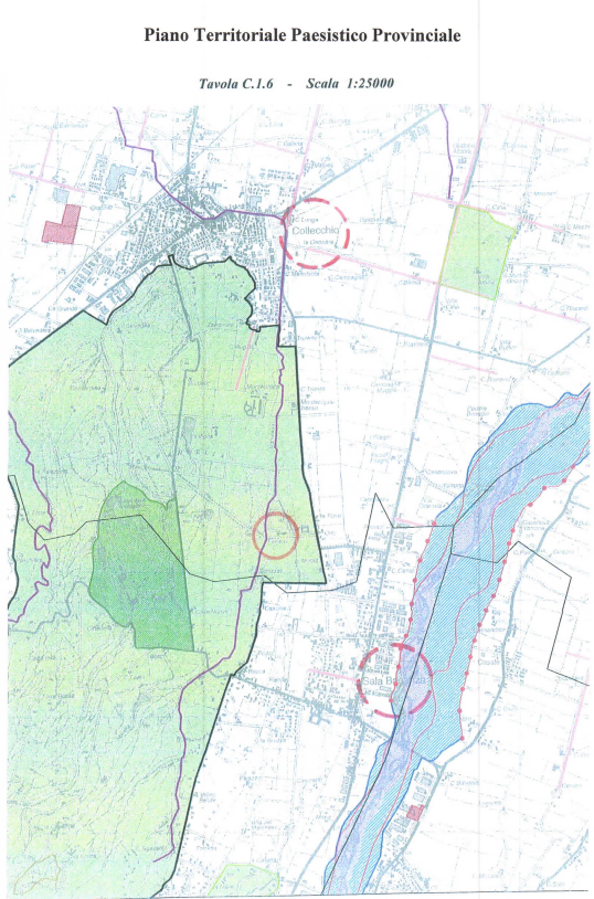 Plan of the territorial location - Villa del Ferlaro