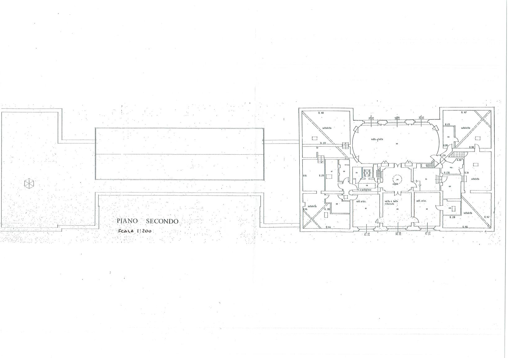 Second floor plan - Villa of Ferlaro