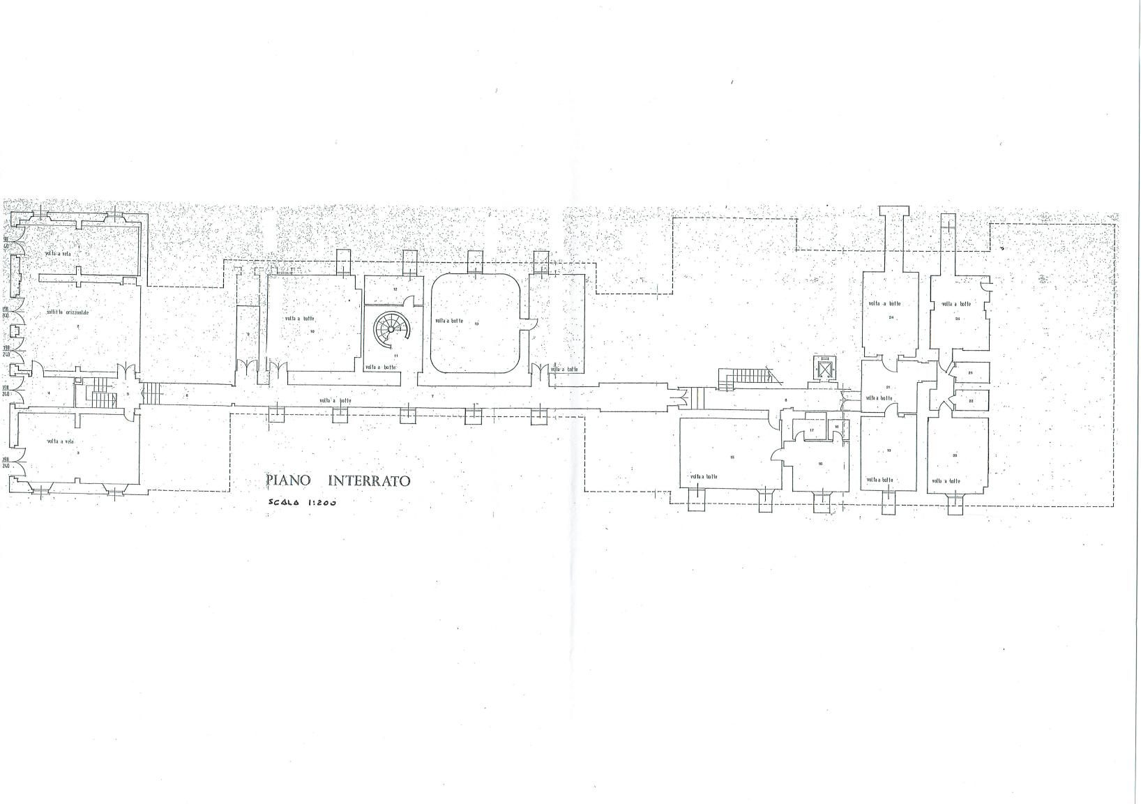 Basement floor plan - Villa of Ferlaro