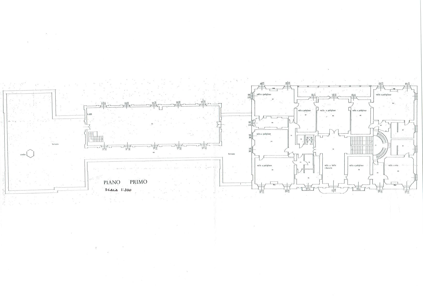 First floor plan - Villa of Ferlaro