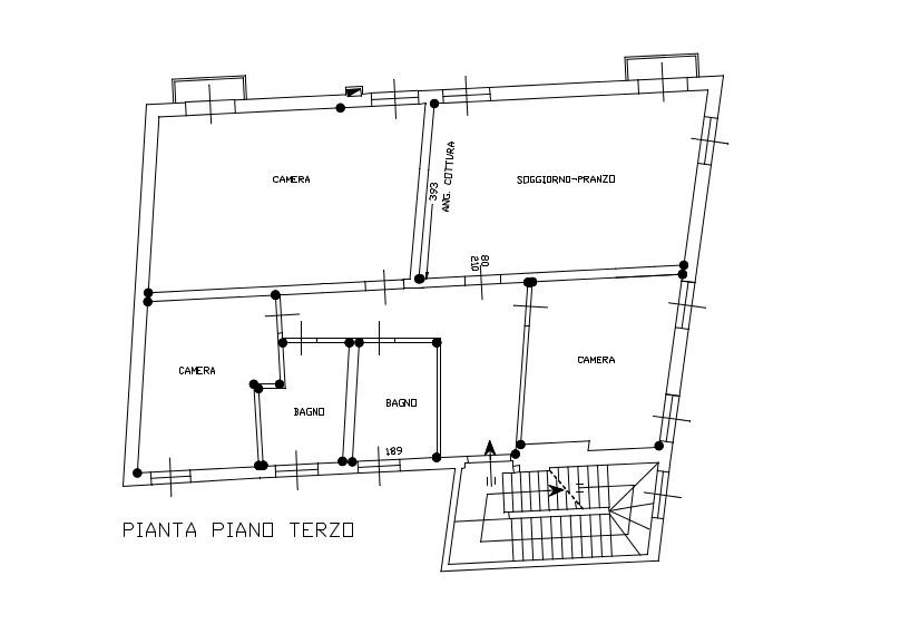 Planimetria terzo piano