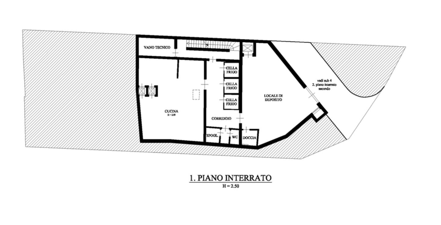 Piano interrato - Gardena