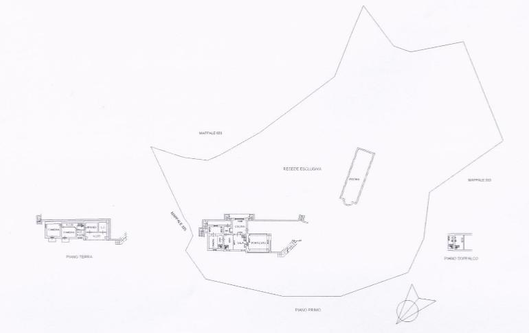 Planimetrie villa Bagni di Lucca